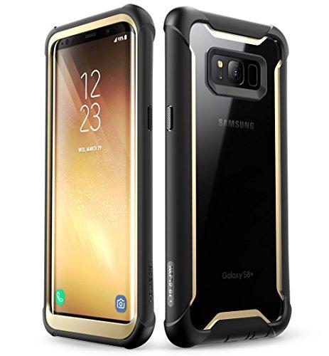 i-Blason Samsung Galaxy S8 Plus Hülle [Ares] Handyhülle 360 Grad Hülle Robust Schutzhülle Cover mit eingebautem Bildschirmschutz für Galaxy S8 + Plus, Gold