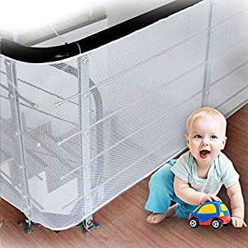 LULUME Baby Rail Net - Banister Stair and Balcony Net for Indoor & Outdoor - Pet and Toy -10 ft x 2.5 ft