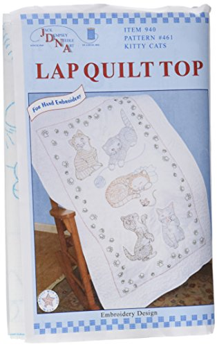 Stamped White Lap Quilt Top 40\