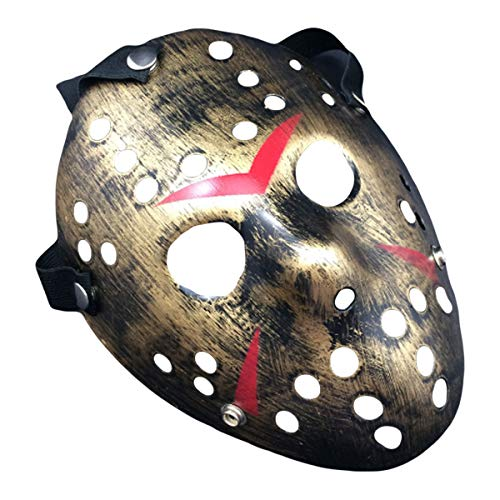 IMIKE Halloween Cosplay Masks Jason Face Masks Retro Thicken Horro Masquerade Paty Masks Great Decorations (Golden)