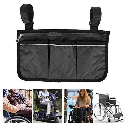 DAUERHAFT Bolsa Lateral Multifuncional Multibolsillos Resistente para Scooter, para la mayoría de los Caminantes, para Scooters(Black)