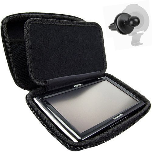 ChargerCity XT-Large Hard Shell Carry Case for Garmin Nuvi Drive Smart 51 55 57LM 58 60 61LM 65 66LM 66LMT 67LM 67LMT 68LM 2639 2639LMT 2689 2689LMT 60LMT NUVICAM LMT LMTHD GPS (Free AIR Vent Mount)