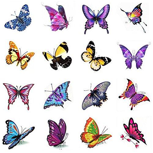 Stickers hommes et des tatouages temporaires Femmes Waterproof Papillon-A387