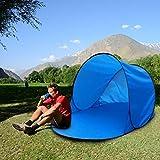 Pop Up Beach Tent Capa Soltera Protección Solar Tienda Pop Pop Up Sun Shelter Protección UV Instantánea Al Aire Libre Niños Jugando Tienda De Camping con Bolsa De Tela, 142 72 60 Cm