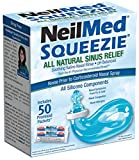Squip NasaKleen Squeezie with Nasal Irrigation System/Pack of 50 Saline Sachets