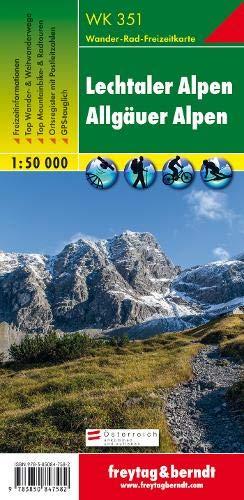 Lechtaler Alpen - Allgäuer Alpen, Wanderkarte 1:50.000, WK 351: Wandel- en fietskaart 1:50 000 (freytag & berndt Wander-Rad-Freizeitkarten)