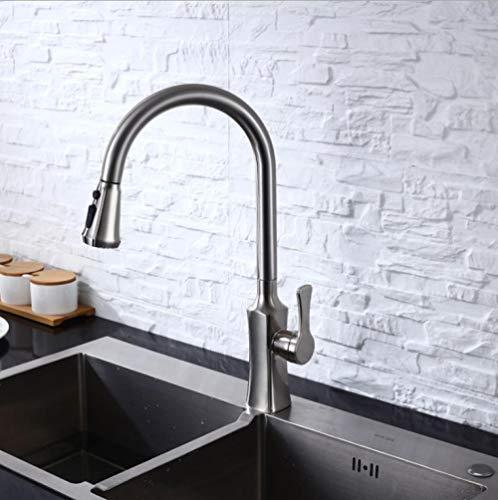 Xmansky Inicio Mischbatterie Küche Einzigen Handgriff Drehen Heiß Und Kalt Ziehen Waschbecken Wasserhahn-Zeichnen