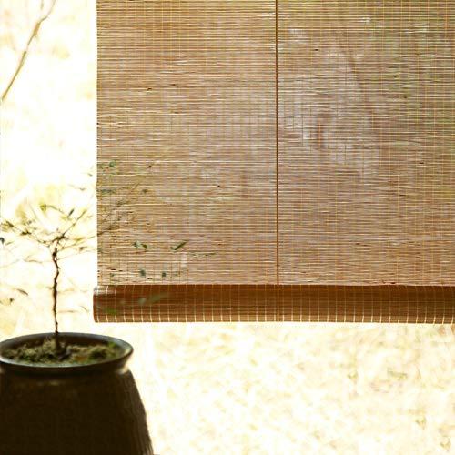 Bambusrollo Outdoor-Rollo Mit Beschlägen, Fenster/Pavillon/Balkon/Patio Bambus-Außenjalousien, 60cm / 80cm / 100cm / 120cm / 140cm Breit (Size : W 120×H 160cm)