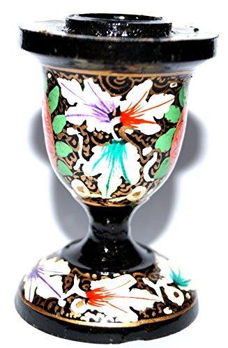 Kerzenständer / Kerzenhalter für Tisch Deko oder Wohnzimmer/Schlafzimmer Dekoration - Handgemacht und Handbemalt aus Papiermache in Kaschmir-Indien