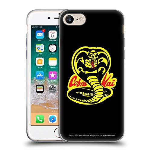 Head Case Designs Licenciado Oficialmente Cobra Kai Logotipo Gráficos Carcasa de Gel de Silicona Compatible con Apple iPhone 7 / iPhone 8 / iPhone SE 2020