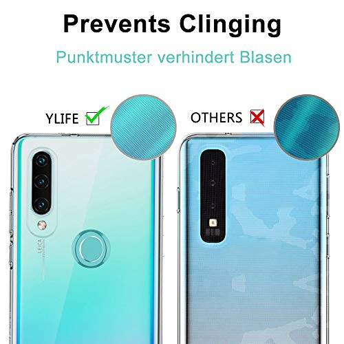 Ylife Hülle Kompatibel Huawei P30 Lite, Ultra Dünn Transparent Weiche Silikon TPU Handyhülle, Anti-Gelb Crystal Clear Silikonhülle, Anti-Scratch Schutzhülle, Durchsichtige Case Cover - Klar - 5
