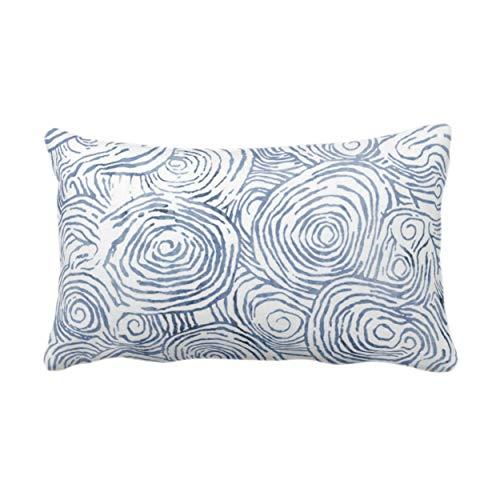 Traasd11an Fundas de almohada lumbar, acuarela Fois Bois, azul marino, estampado de líneas modernas, funda de cojín decorativa para sofá, dormitorio, coche, 12 x 50 cm