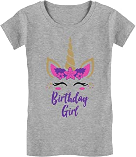 Birthday Girl Unicorn Outfit Gifts for Girls' Infant Girls' Fitted T-Shirt