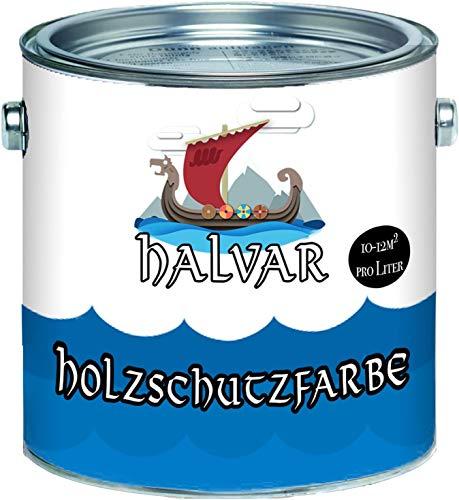 Halvar PU Holzschutzfarbe GLÄNZEND Nachtblau RAL 5022 Blau Skandinavische Wetterschutzfarbe Holz-Lack wetterbeständiger Langzeitschutz (1 L)
