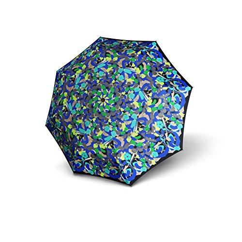 Knirps T2 Duomatic Auto Open/Close Umbrella, Spring Blue, One Size