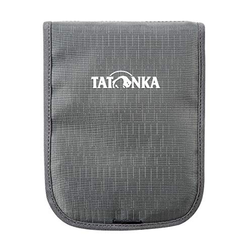 Tatonka Hang Loose Pochettes Tour de Cou Mixte, Gris Titane, 14 x 19 x 1 cm