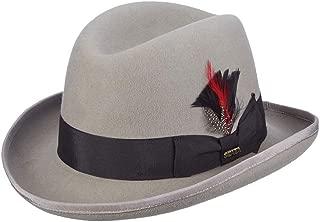 Men's Wool Felt Homburg Hat, Light Grey, Medium