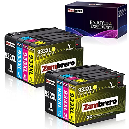 Zambrero 932 933 XL Cartuchos de tinta Reemplazo para HP 932XL 933XL Alta Capacidad Compatible con HP Officejet 7110 6700 6600 6100 7510 7610 7612