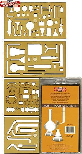 KOH-I-NOOR 750076 Schablone Chemie - 4er Set