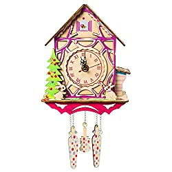 3D Wooden Puzzles Tree House Wall Clock Colorful Model Building Kit for Adults and Kids Christmas Birthday Gifts Mechanical Models Functional and Fun Assemble 3D Puzzle Wood Craft