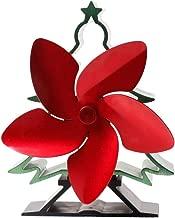 MOMU 5 Blades Christmas Tree Powered Stove Fan Aluminium Silent Eco-Friendly for Wood Log Burner Fireplace Ecofan
