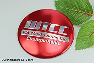 R171 WTCC 4 Pieces Red Wheel Cover 3D Emblem Mobile Car Sticker Hub Cap Hub Caps Hub Caps 56.5mm
