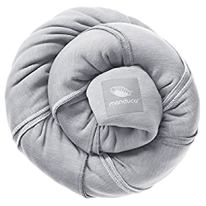 manduca SLING Fular Portabebes > Light Grey < Fular Porta-Bebé Elastico con Certificado GOTS, Algodón Orgánico, Para Recién Nacidos a partir de 0 meses (3,5kg) y Niños de hasta 15kg, gris claro