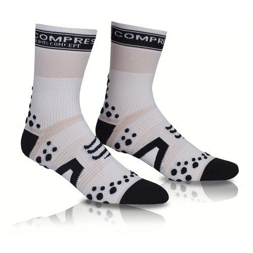 COMPRESSPORT - Calcetines, Talla M (Talla del Fabricante : T2), Color Blanco/Negro