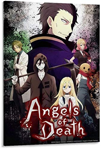 Posters Anime Angel of Death Culminará Su Trama Con Los Episodios Canvas Art and Wall Art Picture Print Modern Family Bedroom Decor 16x24inch(40x60cm)