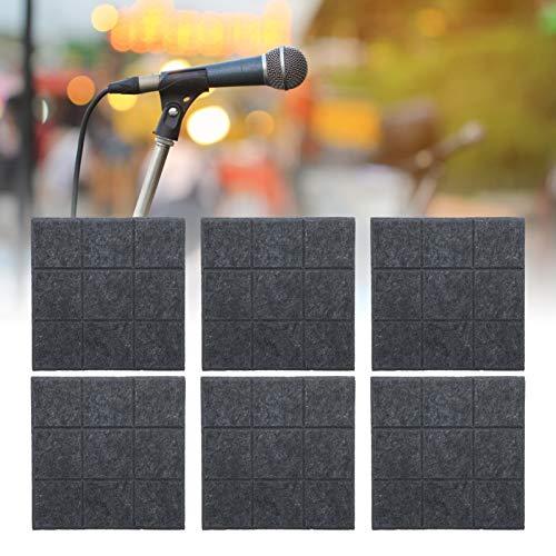 Panel absorbente de sonido, panel insonorizado resistente al fuego de alta resistencia, para estudios caseros, para estudios de grabación(Gris oscuro)
