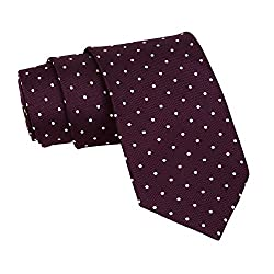 Barata Formal Ties For Men, Maroon Tie Formal Broad