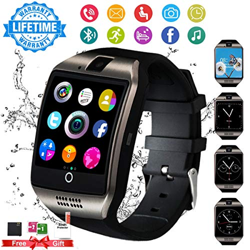 Bluetooth Smartwatch con Camera,Smart Watch Phone Touchscreen,Smart Orologio,Impermeabile Orologio Intelligente con SIM Card Fessura per Android ios phone XS XR X11 X10 X8 S9 S8 S7 Uomo Donna