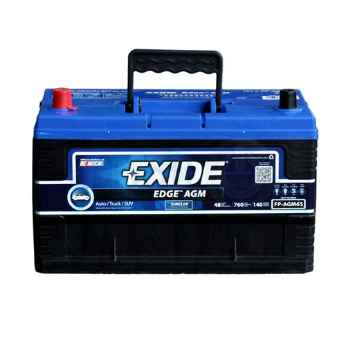 Exide Edge FP-AGM65 Flat Plate AGM Sealed Automotive Battery