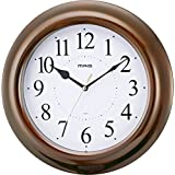 MAG(マグ) 掛け時計 非電波 アナログ 桜花 直径28cm 連続秒針 ブラウン W-518BR-Z
