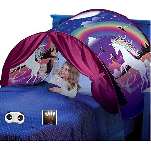 Nifogo Bed Tents Unicorn Bed Tent Pop Up Tents for Kids Game Tents Indoor,Children's Playrooms,Boys and Girls Christmas Birthday Gifts