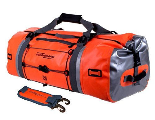 Overboard Pro-Vis Waterproof Duffel Bag - Orange, 60 Litres by Overboard