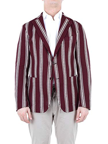 Luxury Fashion | Tagliatore Heren 1SMJ22K57YEJ135C1369 Bordeaux Katoen Blazers | Seizoen Outlet