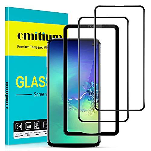 omitium Vetro Temperato per Samsung Galaxy S10e, [2 Pezzi] Copertura Completa Samsung Galaxy S10e Pellicola Protettiva [Cornice di Allineamento] 9H Durezza...
