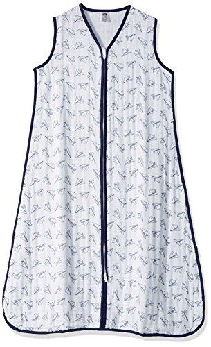 Hudson Baby Unisex Baby Muslin Cotton Sleeveless Wearable Sleeping Bag, Sack, Blanket, Paper Airplane, 0-6 Months