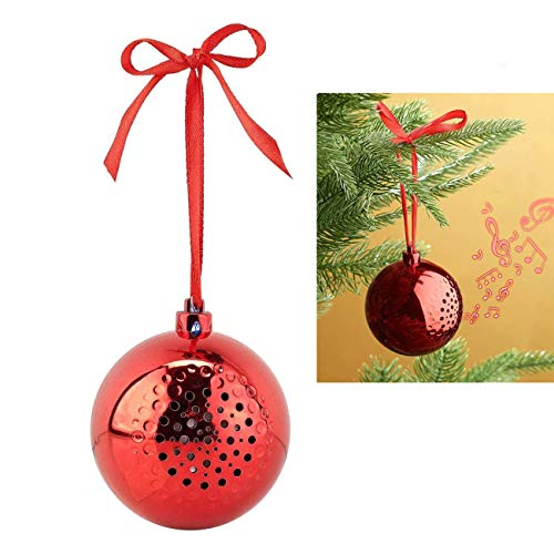 YYGIFT Christmas Ball Bluetooth Speaker Sound Audio Holiday Festival Tree Ornament Present Gift Portable Music Wireless Speakers for Family Friends