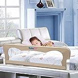 BABY ELF ベッドフェンス ベットガード 無添加素材 布団ずれ 蹴り出し お子様のベッドからの 転落防止 取り付け簡単 幅120cm ベージュ 1枚セット 子供用 出産お祝い
