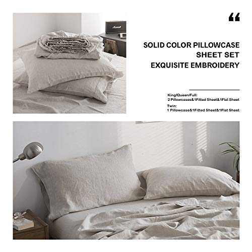 Simple&Opulence Sheet Set with Embroidery Linen