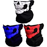 CIKIShield Couples Seamless Skull Face Bandanas Black (3pcs-Color Set-A)