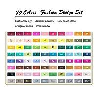 XFHA カラーアートマーカーセットのデュアルスケッチベースのマーカー 必需品を描く (Color : 80 Fashion Set)