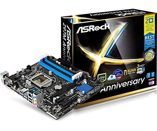 Asrock Z97M Anniversary MATX Mainboard Sockel 1150 (Intel Z97, 4x DDR3, 4x SATA III)