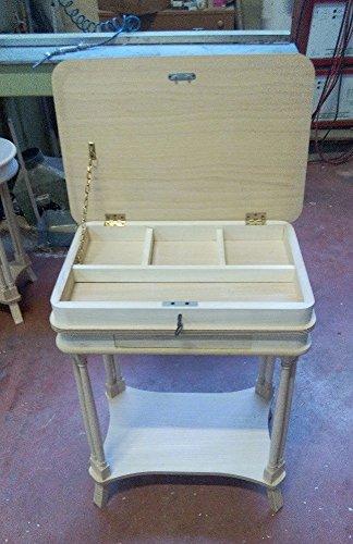Legno&Design Table Basse 1 tiroir rectangulaire Plan relevable en Bois Massif avec marqueterie
