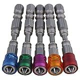 Bqlzr 1/10,2 cm S2 in acciaio cromato per cartongesso cacciavite magnetico bit PH2 L65 x D...