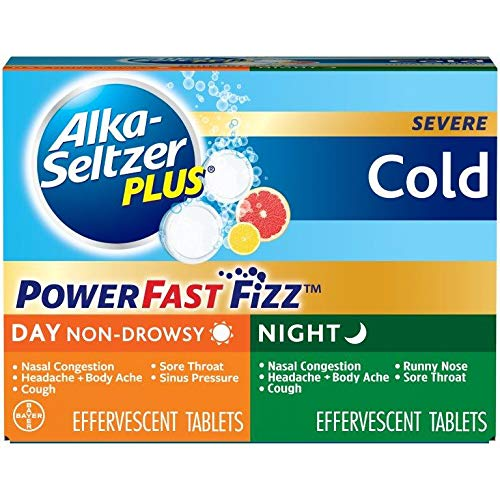 Alka-Seltzer Plus Day and Night Cold Medicine Effervescent Tablets