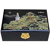 SHYPT Boîte à Bijoux - Boîte à Bijoux en Bois Transparent Double Rangement avec boîte de...