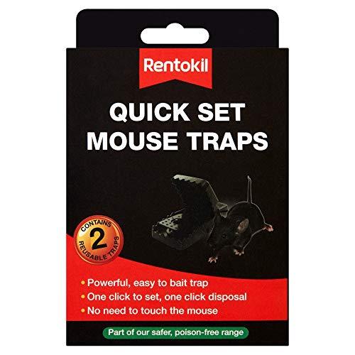Rentokil RKLFQ26 – Piège à souris Quick Set – Lot de 2